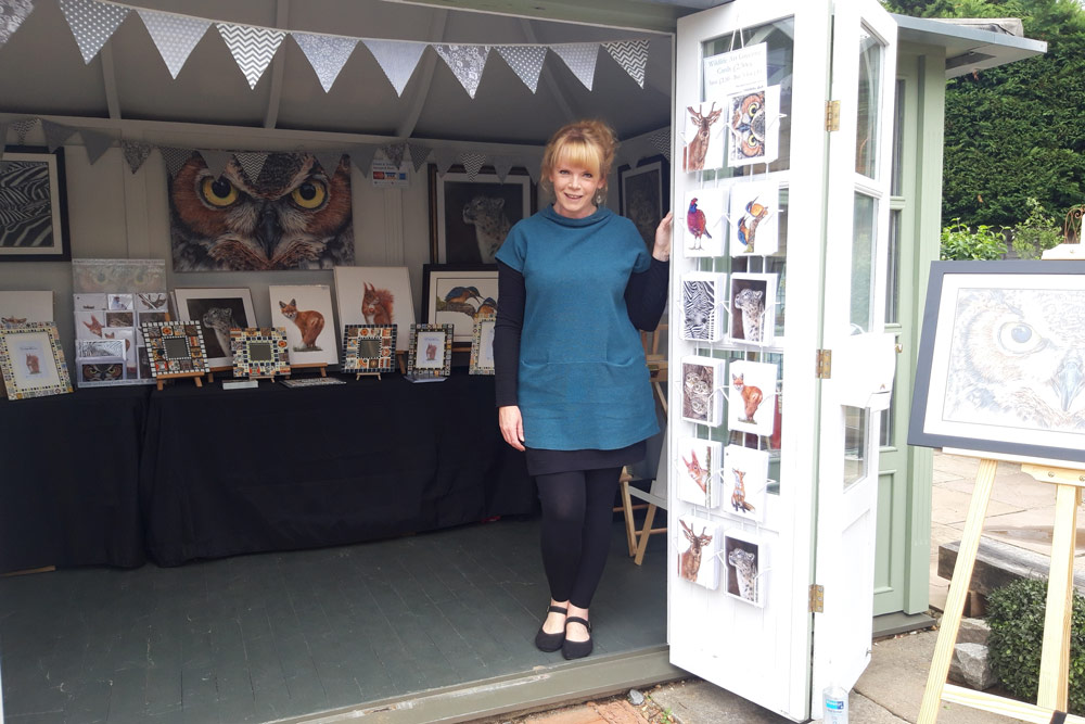 Wildlife artist Angie's popup wildlife art exhibition at The Packhouse