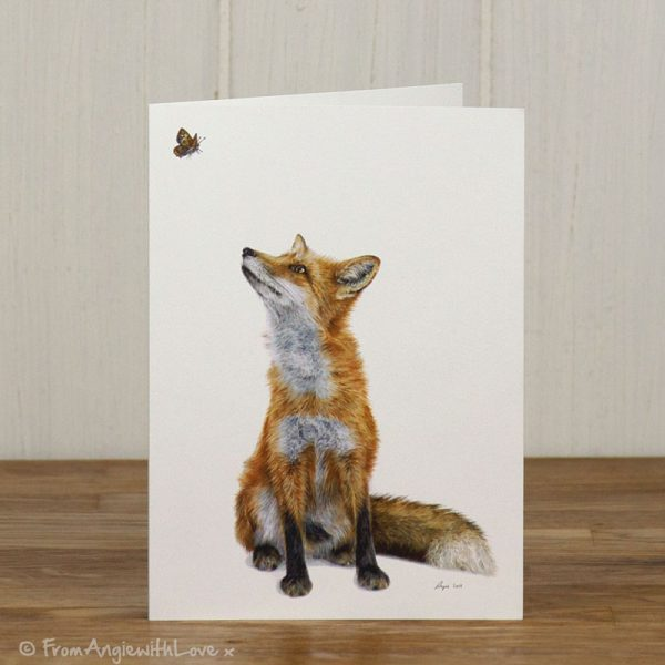 Fluttering Heights Red Fox Greeting Card