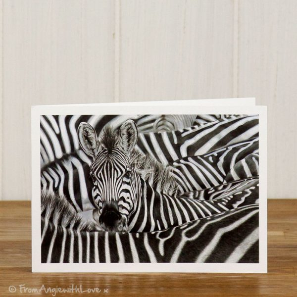 Lost in a Crowd Zebra Greeting Card
