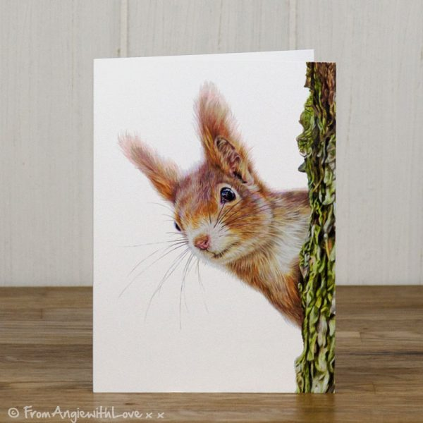 Red Alert Red Squirrel Greeting Card