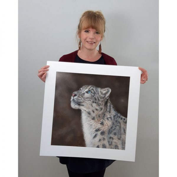 Mountain Spirit Snow Leopard Wildlife Art Print