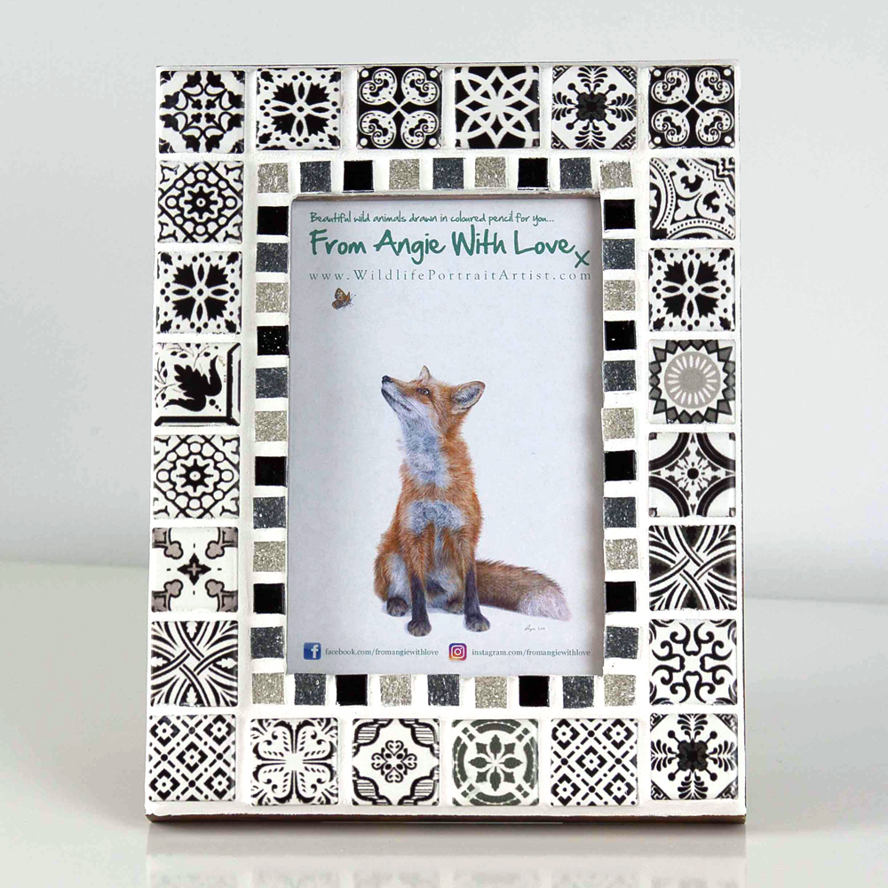 Mosaic photo frame by Wildlife artist Angie