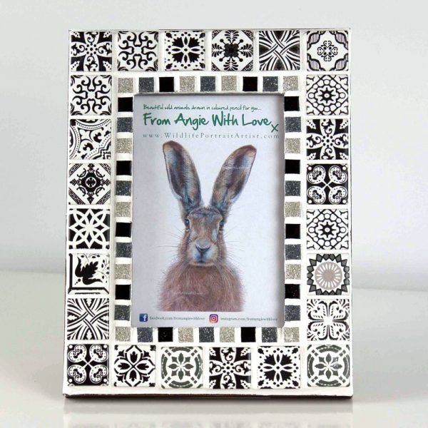 Mosaic photo frame by Wildlife artist Angie
