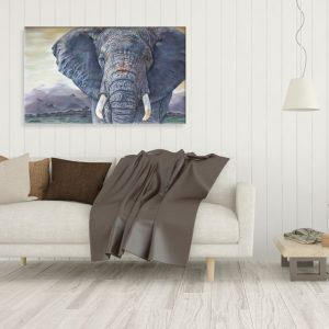 Tembo - African Elephant Canvas Print by Wildlife Artist Angie