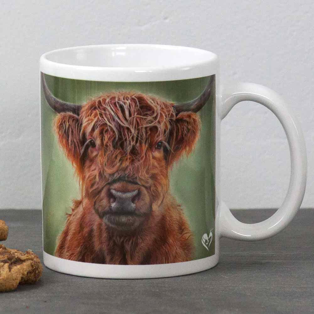 Highland Cow portrait Hamish Mug