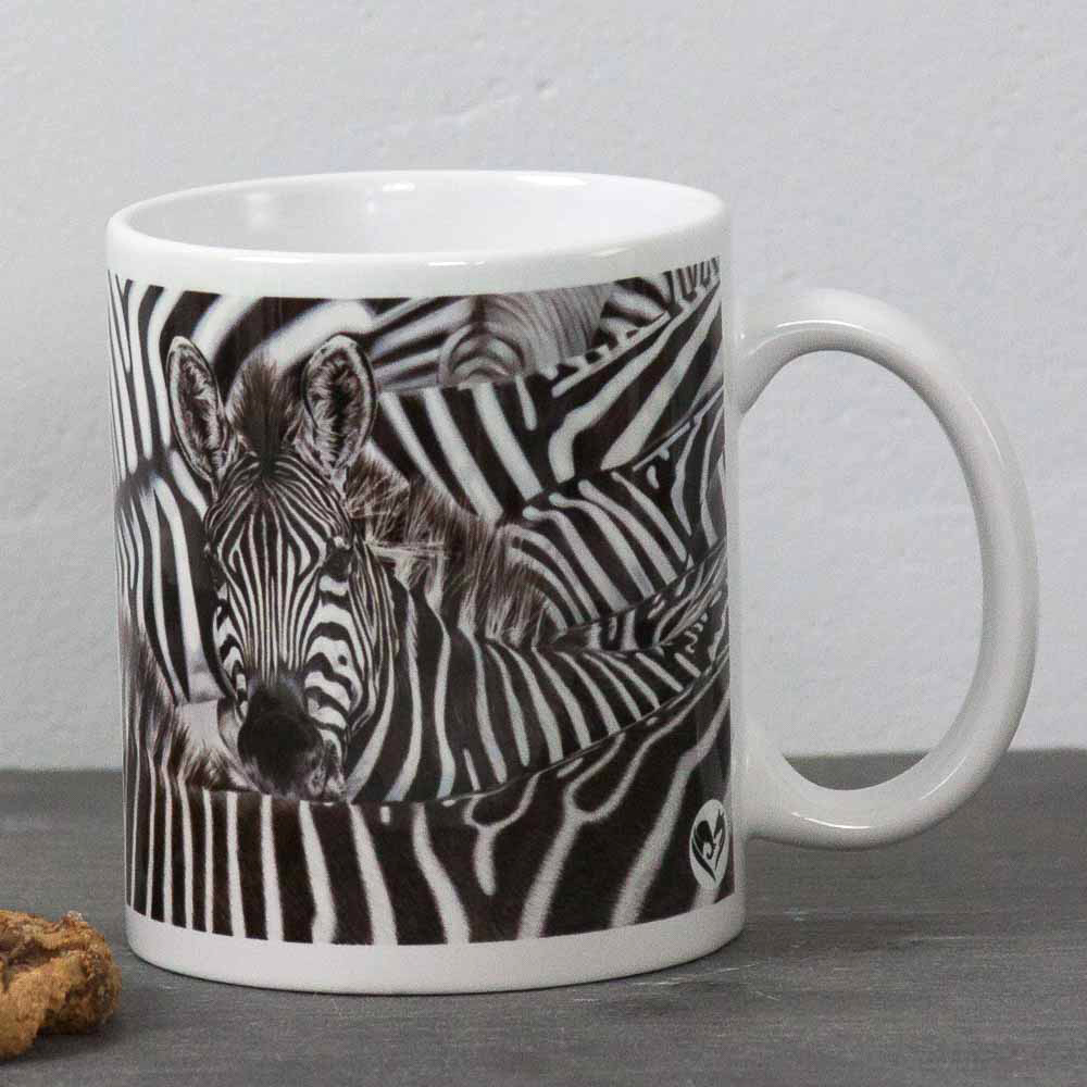 Zebra portrait Lost in a Crowd Mug