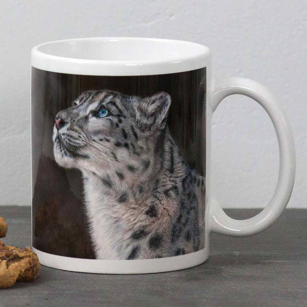 Snow Leopard portrait Mountain Spirit Mug