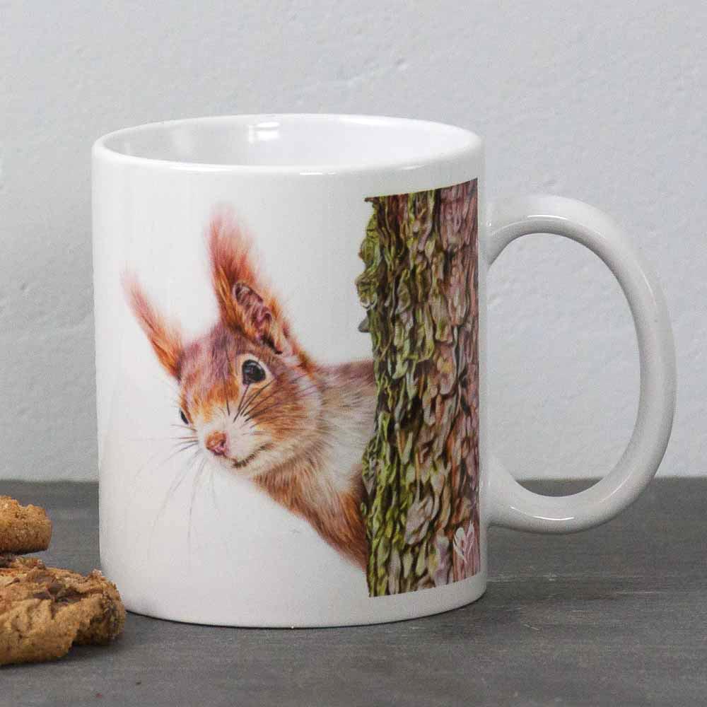 Red Squirrel portrait Red Alert Mug