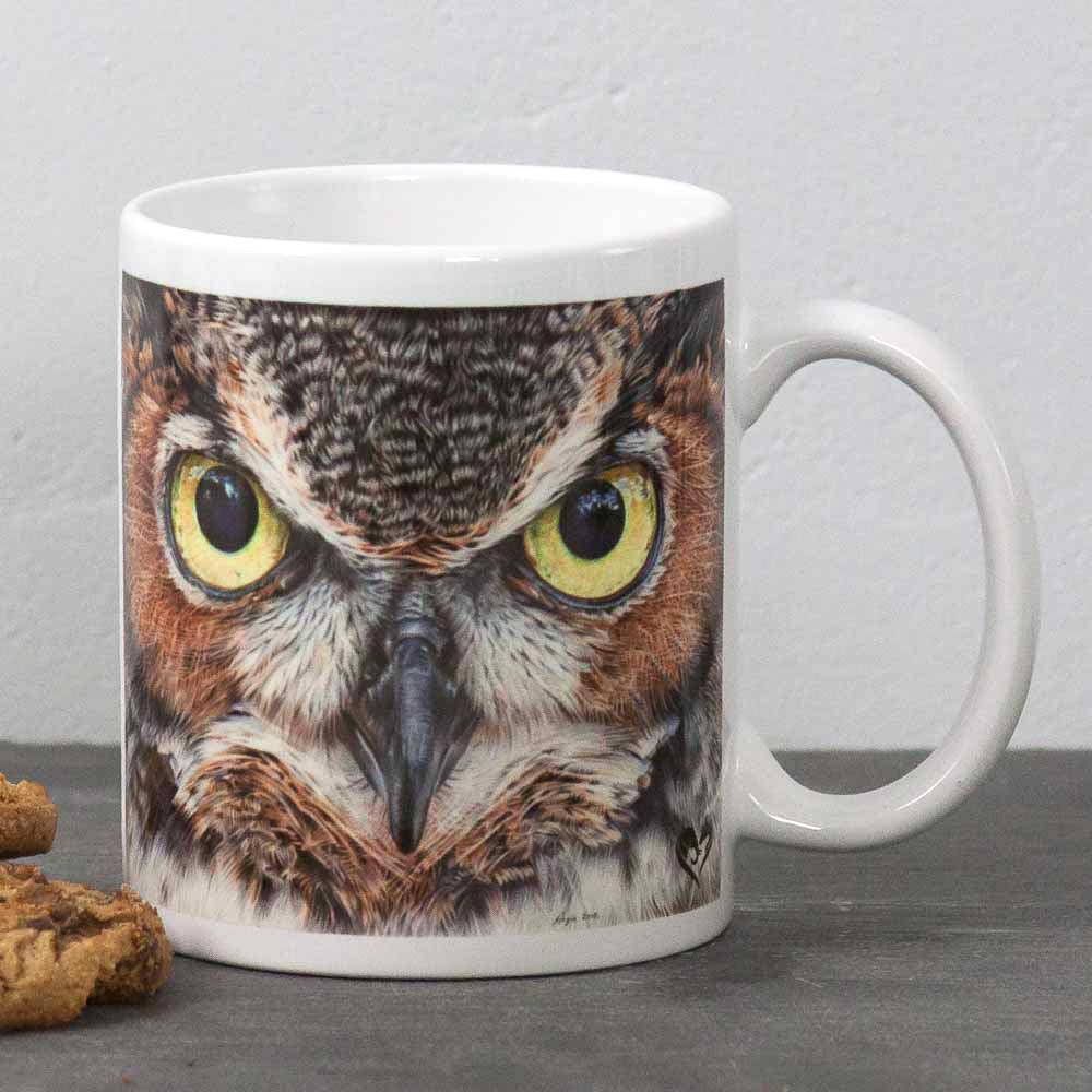 Eagle Owl portrait A Thousand Yard Stare Mug