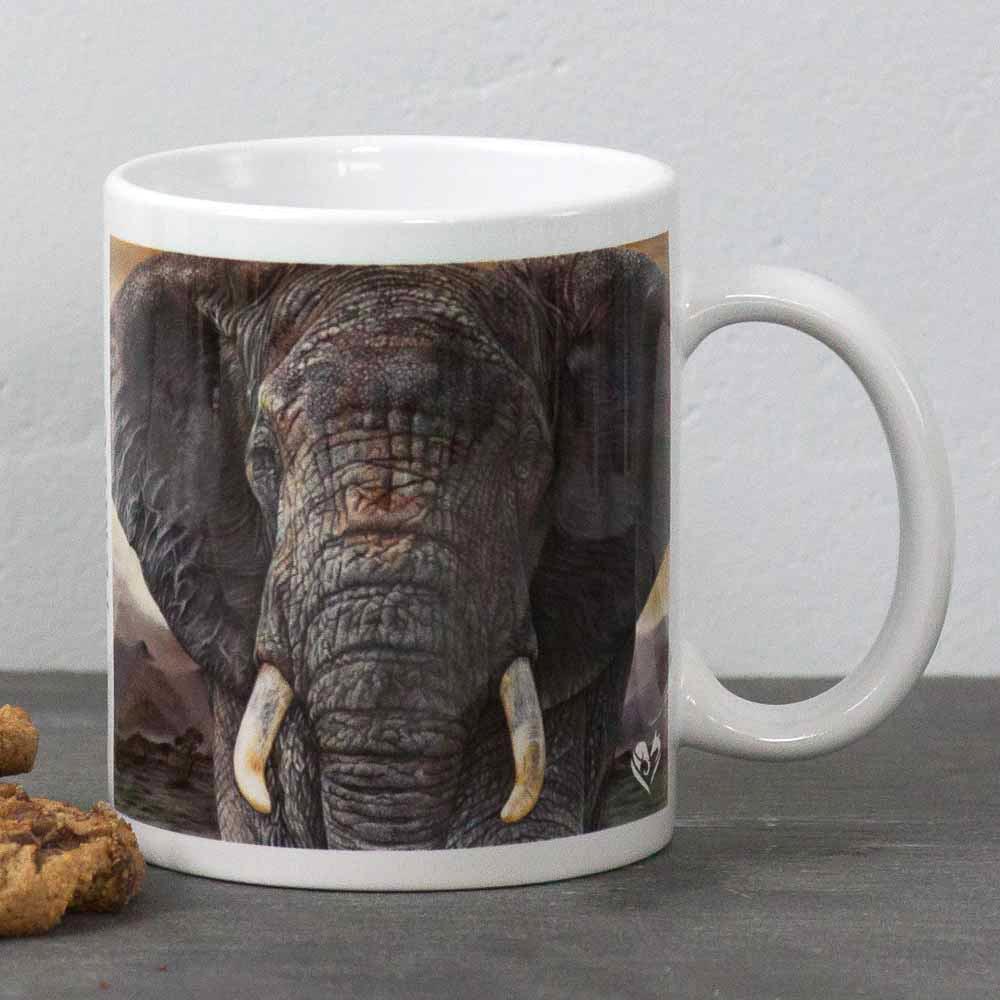African Elephant portrait Tembo Mug