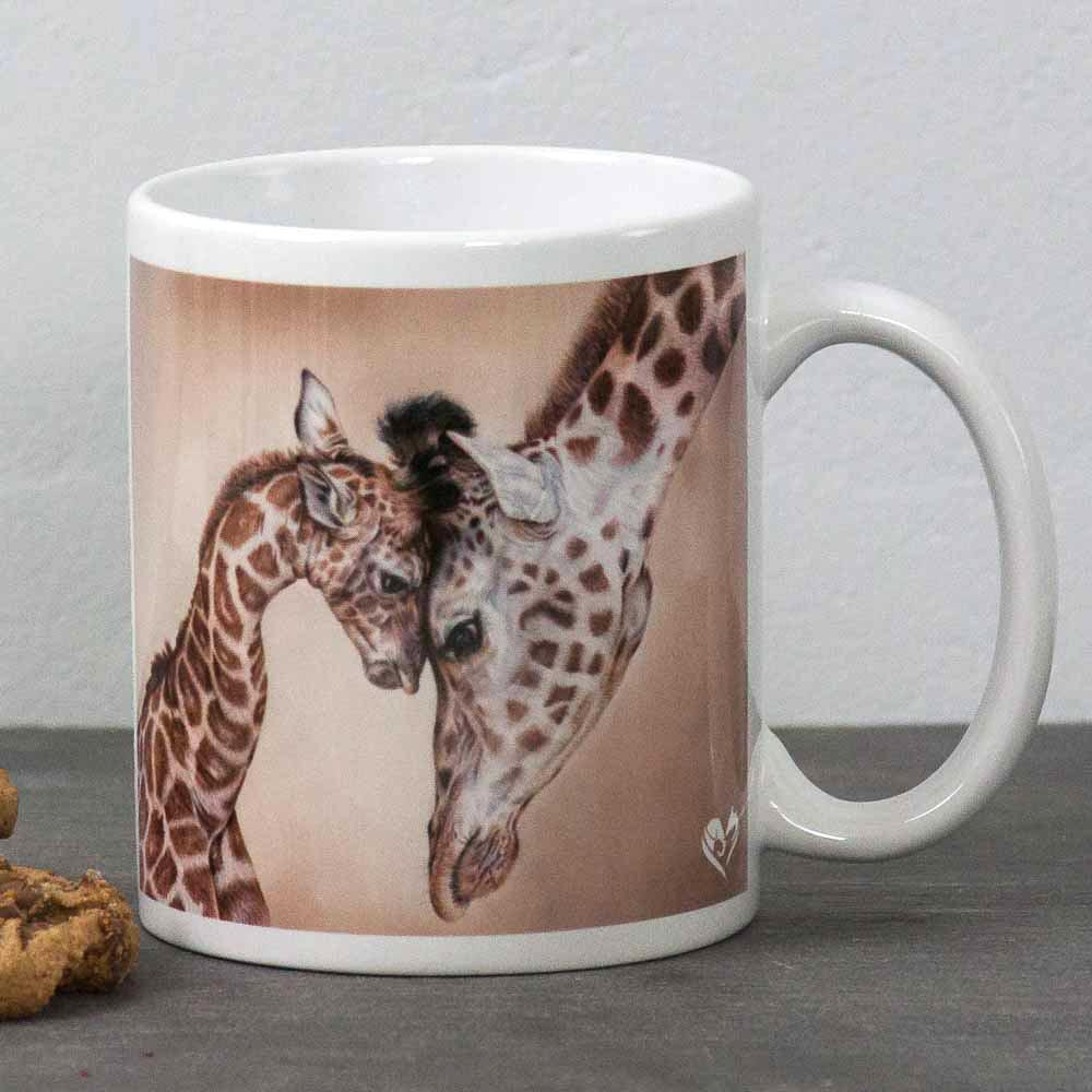 Giraffe portrait Tenderness Mug