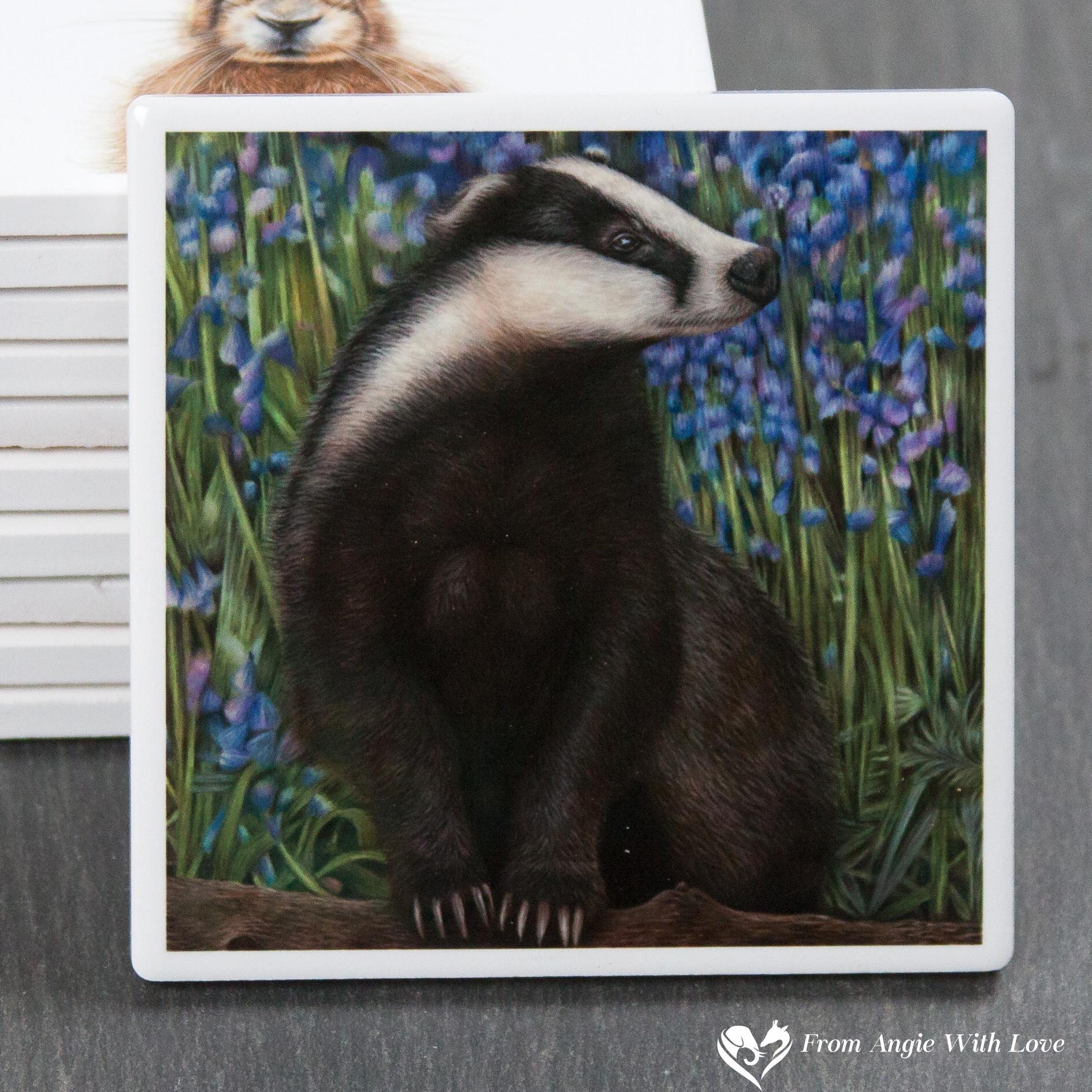 Badger Coaster - Bluebell Wood