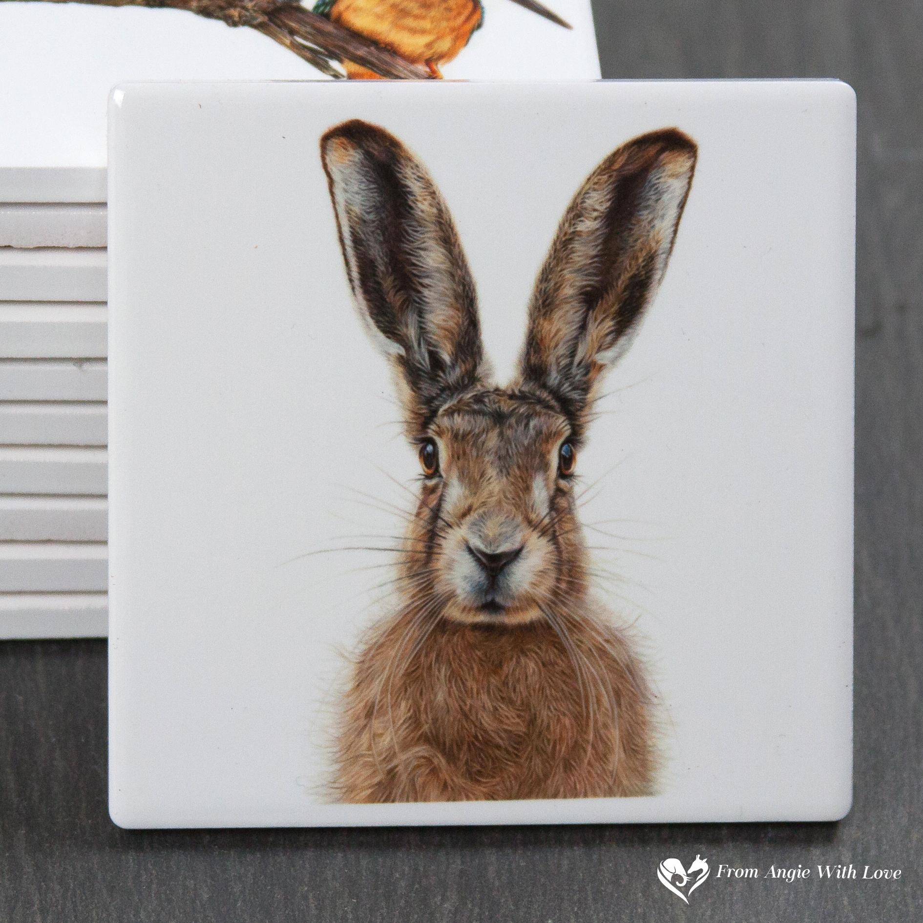 Brown Hare Coaster - Mr Brambles