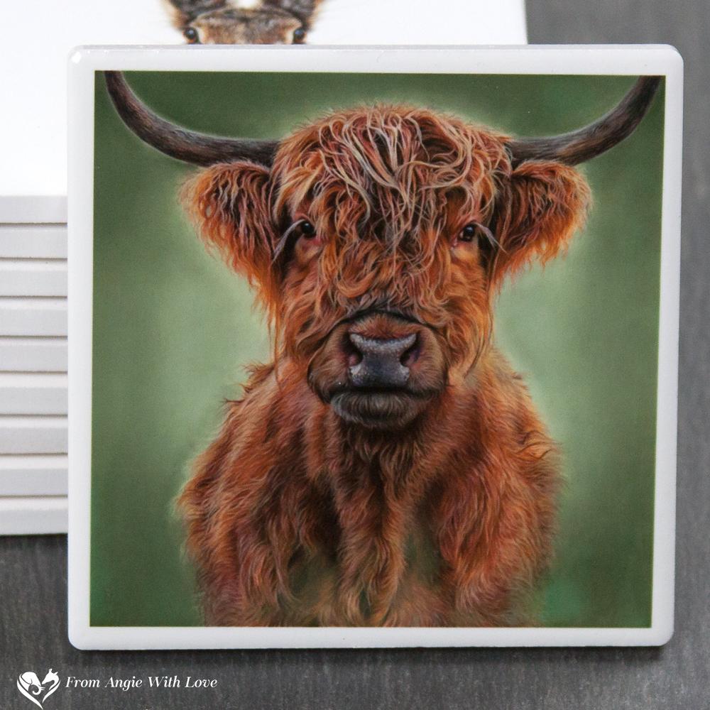 Highland Cow Coaster - Hamish
