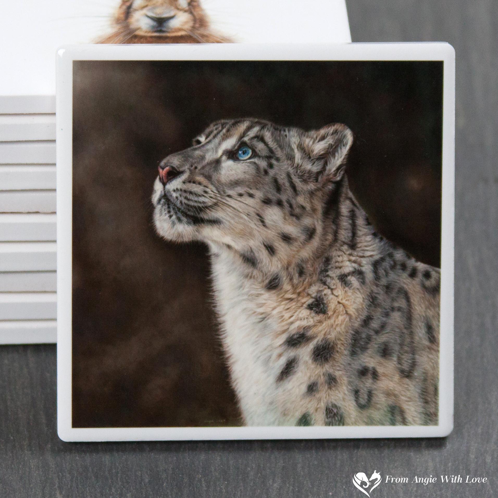 Snow Leopard Coaster - Mountain Spirit