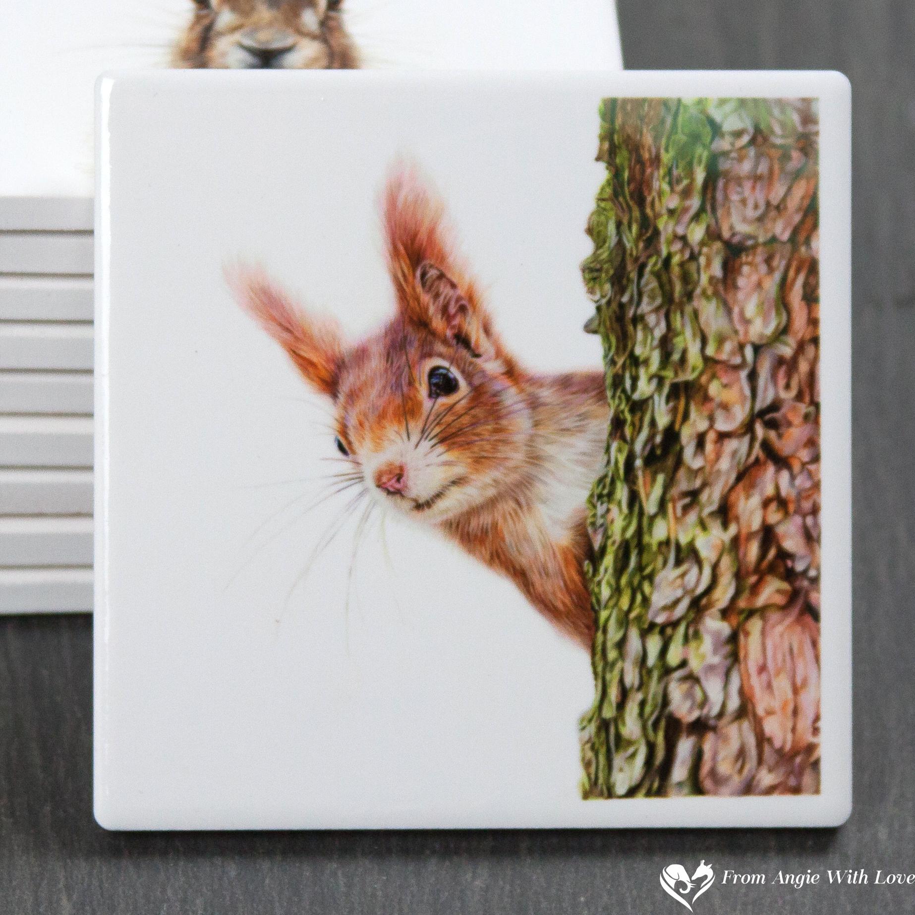 Red Squirrel Coaster - Red Alert