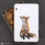 Red Fox Biscuit Tin - Fluttering Heights
