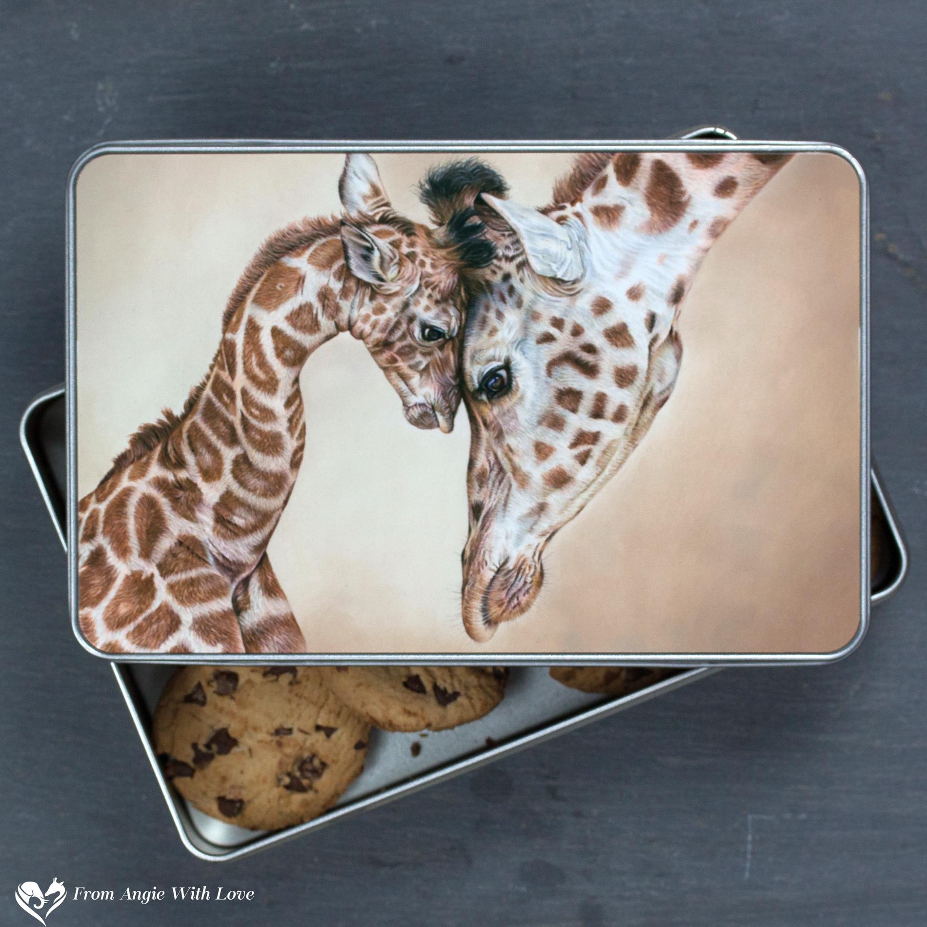 Giraffe Biscuit Tin - Tenderness