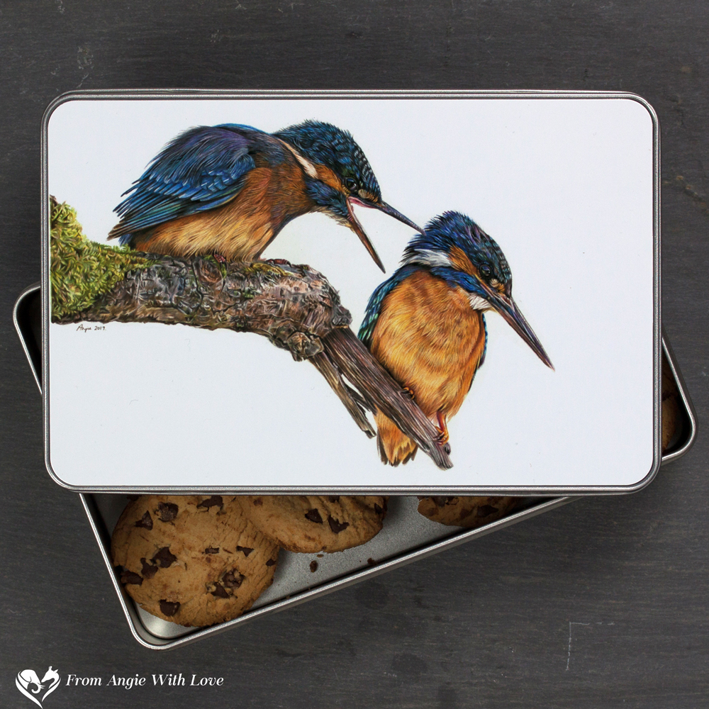 Kingfisher Biscuit Tin - Domestic Bliss