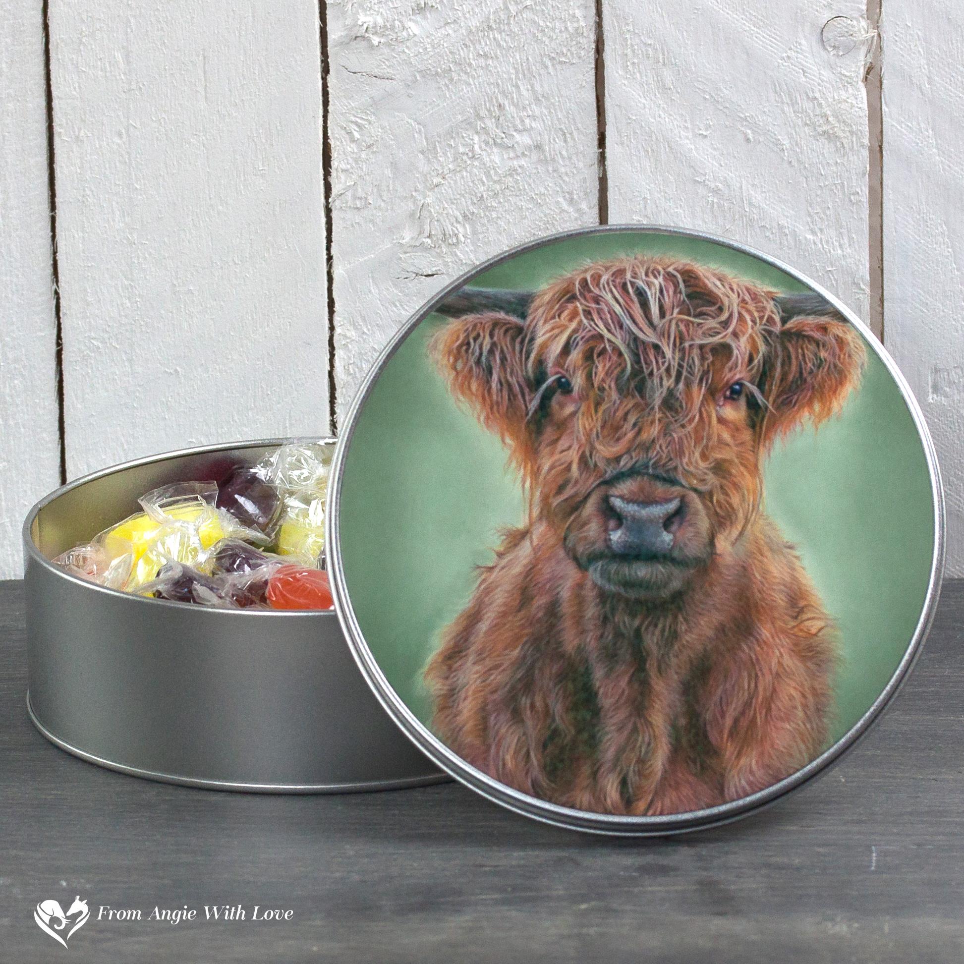 Highland Cow Tin - Hamish