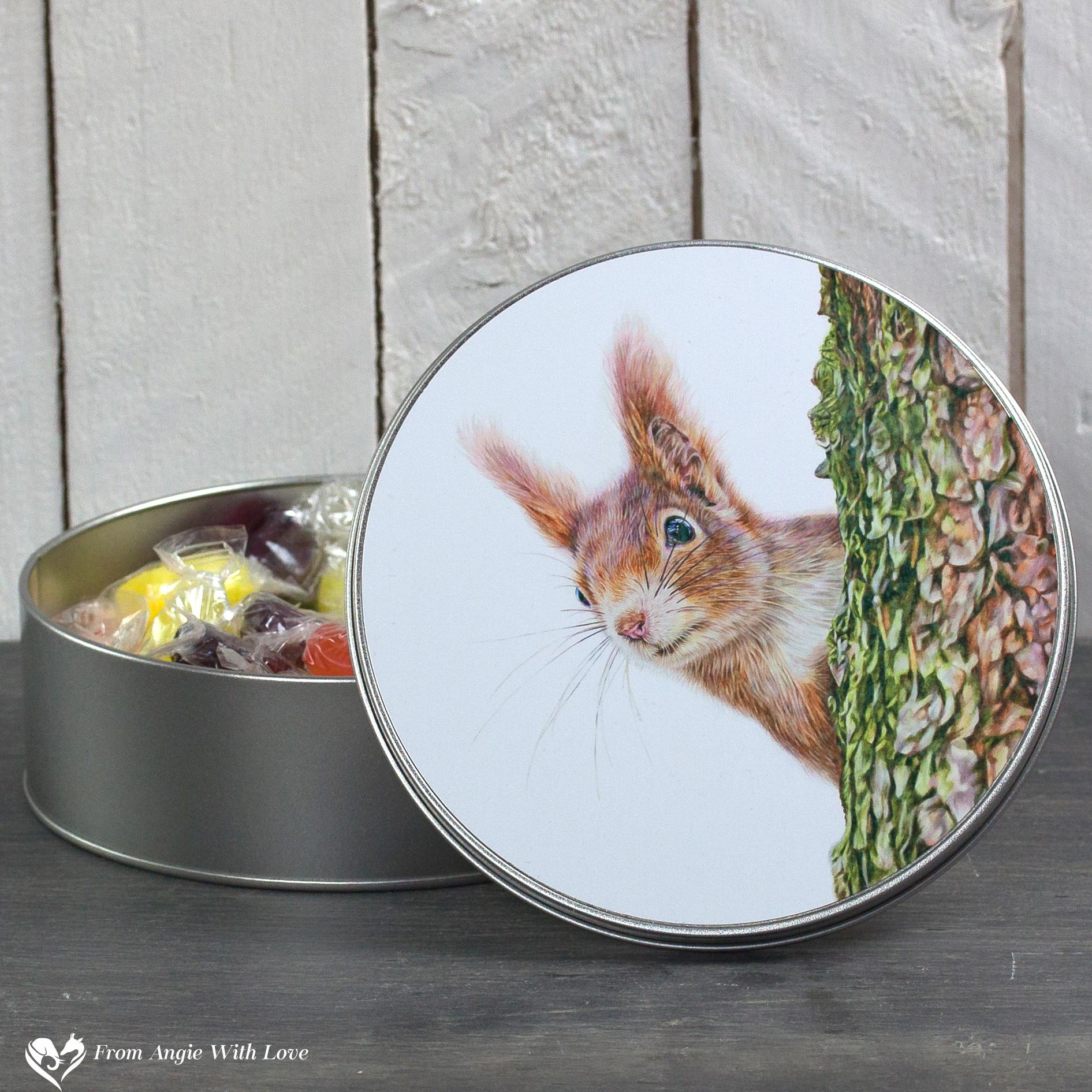 Red Squirrel Tin - Red Alert
